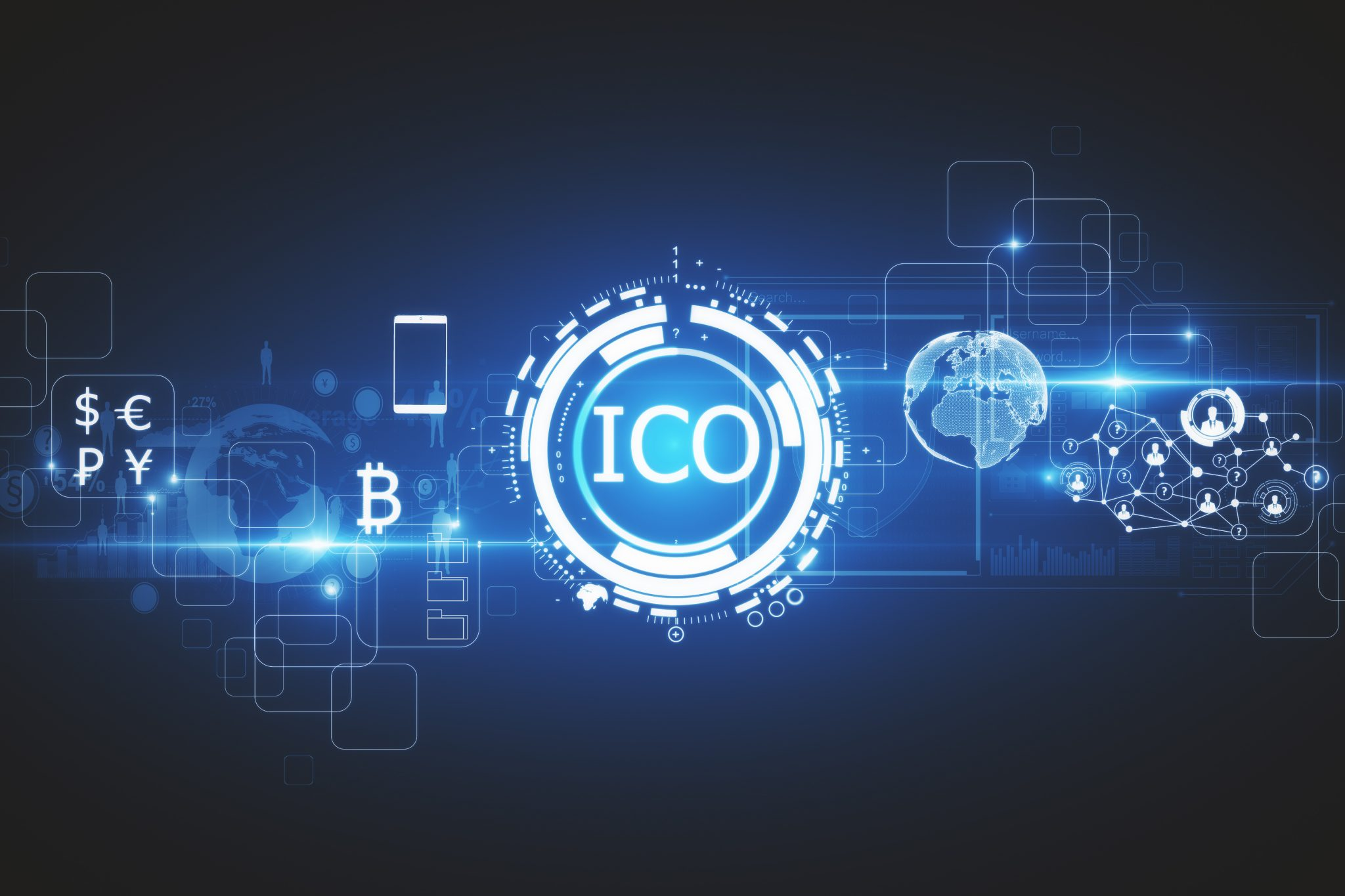 Blue ICO icon