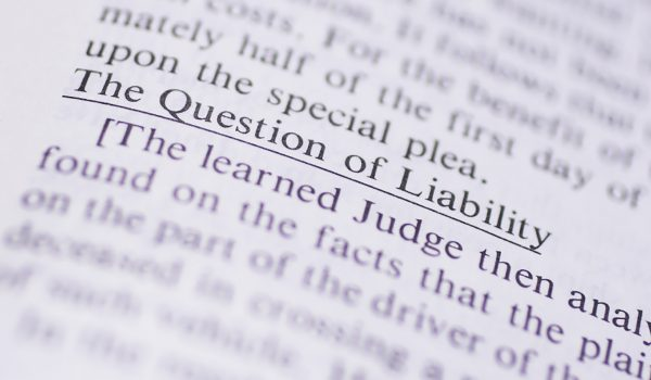 """The Question of Liability"""